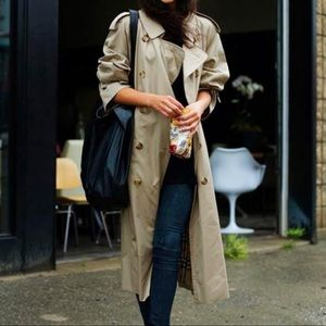 Vintage Burberry Classic Long Trench Coat Jacket